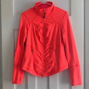 Zella Medium Neon Orange Zip Up Jacket